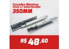 CAIXA 10 PARES CORREDIÇA INVISIVEL METALNOX 350MM COM AMORTECEDOR