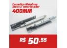 CAIXA 10 PARES CORREDIÇA INVISIVEL METALNOX 400MM COM AMORTECEDOR