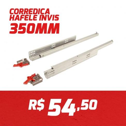 CAIXA 10 PARES CORREDIÇA INVISIVEL HAFELE 350MM
