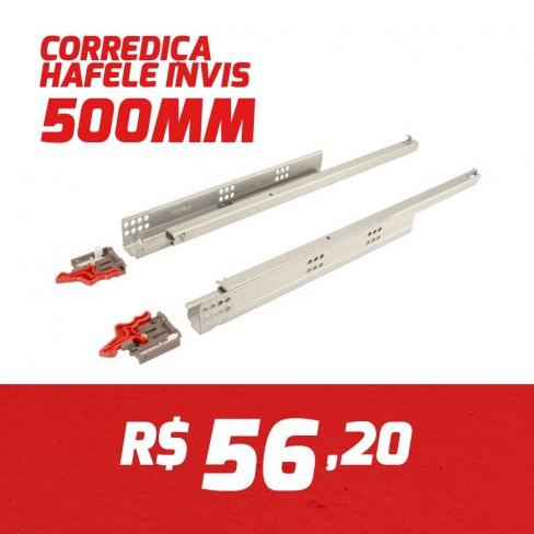 CAIXA 10 PARES CORREDIÇA INVISIVEL HAFELE 500MM