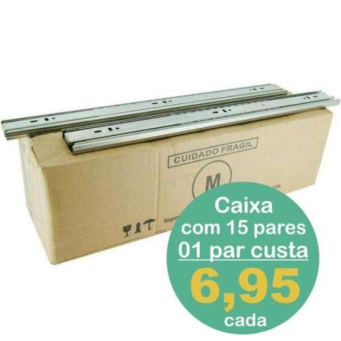 CAIXA 15 PARES CORREDIÇA METALNOX 250MM