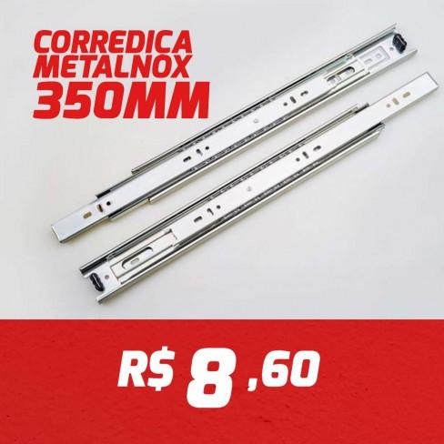 CAIXA 15 PARES CORREDIÇA METALNOX 350MM