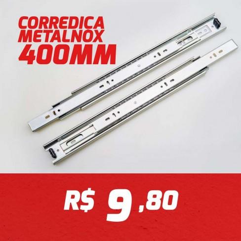 CAIXA 15 PARES CORREDIÇA METALNOX 400MM