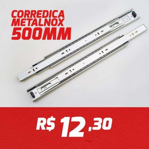 CAIXA 15 PARES CORREDIÇA METALNOX 500MM