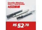 CAIXA 10 PARES CORREDIÇA INVISIVEL METALNOX 450MM COM AMORTECEDOR