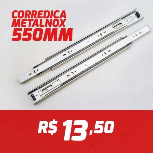 CAIXA 15 PARES CORREDIÇA METALNOX 550MM