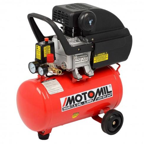 COMPRESSOR DE AR MOTOMIL 1,5HP MAM-7,4/24 MONO 220V