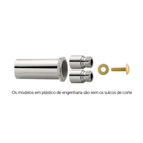 PROLONGADOR BLUKIT REGISTRO DECA20,0MM ABS CROMADO