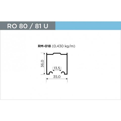 TRILHO ROMETAL SUPERIOR RM-018 BARRA AL